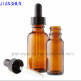 Essential Oil Bottle with Glass Dropper and Plastic Cap