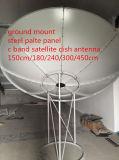 C/Ku Band 1.8 2.4 3 3.7m 12 10 8 6 4feet 300 400 180 240cm Satellite WiFi/Car TV/3G/HD Fiber Iron Steel Plate Satellite Digital GPS GSM Dish Antenna Receiver