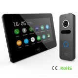 Touch Screen 7 Inches Home Security Doorbell Video Doorphone Interphone with Memory