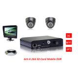 Full D1 Real Time H. 264 SD Mobile DVR All in One DVR