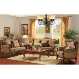 Classic Fabric Sofa with Table for Home Furniture (D910B)