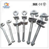 Forged Galvanized Ball Ended Pigtail Hook Bolt Overhead Line Fitting