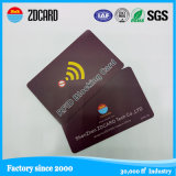 Anti Hacker PVC RFID Blocking Card for Bank Information Protection