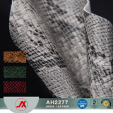 Snake Print Hot Selling PVC Synthetic/Rexine Leather/Fabric for Making Bags, Case, Decorative, Shoes, Ect