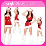 Red Fashion Christmas Dress for Girls