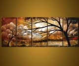 Handmade Landscape Tree Oil Painting on Canvas