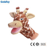High Quality Plush Giraffe Hand Puppet Stuffed Giraffe Toy