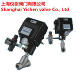 Pneumatic Angle Seat Valve with Positioner