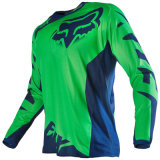 Green Customizable Quick Dry T-Shrit Sublimation Racing Jersey (MAT54)