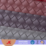 2017 Currently Popular Woven Pattern Embossing PU/PVC Synthetic Leather