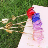Becautiful Crystal Rose Flower as Holiday Gifts or Wedding Decorations