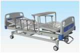 Medical Equipment Movable Full-Fowler Hospital Bed with ABS Head/Foot Board (Central locking) B16