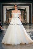 off-Shoulder Bridal Wedding Dresses Applique Tulle Ball Gowns Z2036
