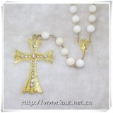 12mm Round Shell Pearl Beads Hail Mary Cross Rosaries (IO-cr359)