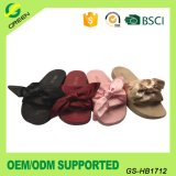 2017 Most Popular Women′s Slippers Slide Sandal with Stain Bow