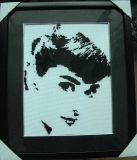 Home Accessories Pure Handmade Elegant Cross Stitch of Personage (ODH)