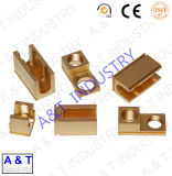 CNC Customized Brass Fitting Parts Electrical Crimp Wire Connector