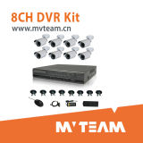 8CH CCTV Camera Kit with CE, RoHS, FCC Approved (MVT-K08E)