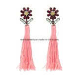 Long Tassel Earrings for Women Studded Crystal Jewelry