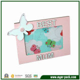 Lovely Pink Wooden Picture Frame for Gift