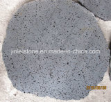Big Hole Lava Round Stepping Stone for Outdoor Paving
