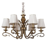 Iron Pendant Lamp Chandelier Light with Fabric Shade (SL2152-6)