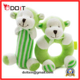 Safety Baby Toy Green Monkey Plush Rattle Baby Toy