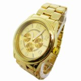Fashion Japan Quartz Watch Alloy Gold 15158