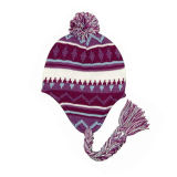 Cute Knitting Pattern Earflap Hat (JRK024)