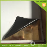Gold Embossed Stainless Steel Plate for Interiors and Kitchen Products