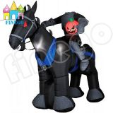 Inflatable Horse and Knight for Halloween Yard Decoration