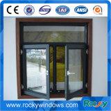 Double Pane Outside Opening Aluminum Casement Window with Double Glazed Glass
