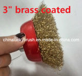 """3"""" Brass Coated Steel Wire Cup Brush (YY-301)"""