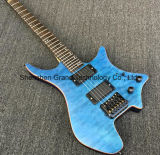 Headless Electric Guitar with Quilted Maple Top (GB-6)
