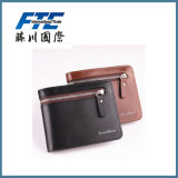 OEM Color Cross Pattern Long Thin Wallet Leather with Zipper