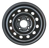 5.5X15 Black Snow Wheels Steel Auto Car Wheel Rims