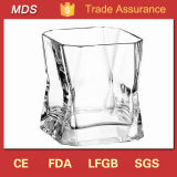 Machine Pressed Square Shaped Mouth Whisky Glass
