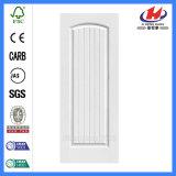 Solid Wood HDF Wooden Door Skin in White Color (JHK-S05)