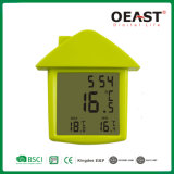 House Shape Digital Min Max Window Thermometer with Memory