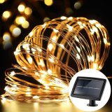 Solor LED Fairy Copper Wire Lights 12cm 100 LEDs Indoor/Outdoor Waterproof Solar Decoration Lights for Gardens, Home, Dancing, Party Decorative Ornaments