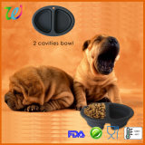 Custom Double Cavities Dog Accessories Product Dog Feeder