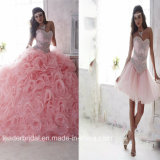 Pink Quinceanera Dress Two Pieces Beaded Princess Bridal Ball Gown Q238