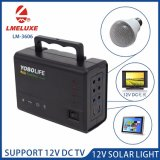 12V Portable High Luminance Solar LED Lamp with Fan Charge Port
