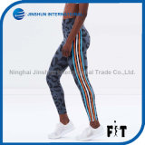 Hot Sale Leopard Printing Leggings Sportswear Multicolor Striped Side Female Pants 2017 Elastic Slim Sexy Fitness Legging