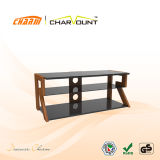 High Quality MDF & Tempered Glass LCD TV Stand Design Home Furniture (CT-FTVS-CM104)
