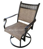 New Us Swivel Rocking Sling Patio Dining Chair with Mesh Fabric Back for Hotel Garden Yard