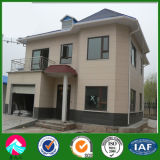 Prefabricated Steel Frame House Villa with Nature Stone Painting