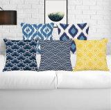 High Quality Simple Print Design Imitated Silk Fabric Cushion Cover