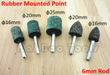 Rubber Mounted Points with 6mm Rod