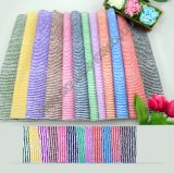 Hot Sale Stock 100%Polyester Printed Microfiber Striped Fabric Width 150cm for Hometextile